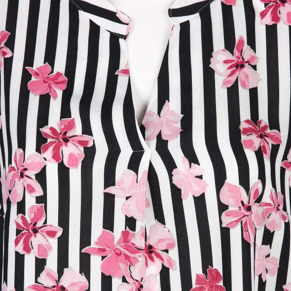 Damen Bluse mit Blüten-Print