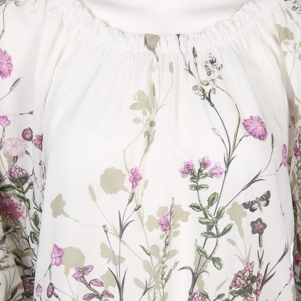 Damen Bluse mit Carmenausschnitt