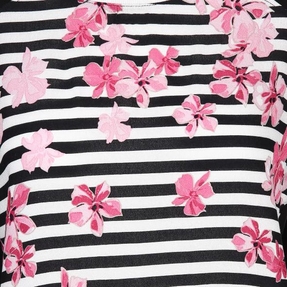 Damen Shirt im Matrialmix