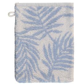 Waschhandschuh mit Blätterprint 18x24cm