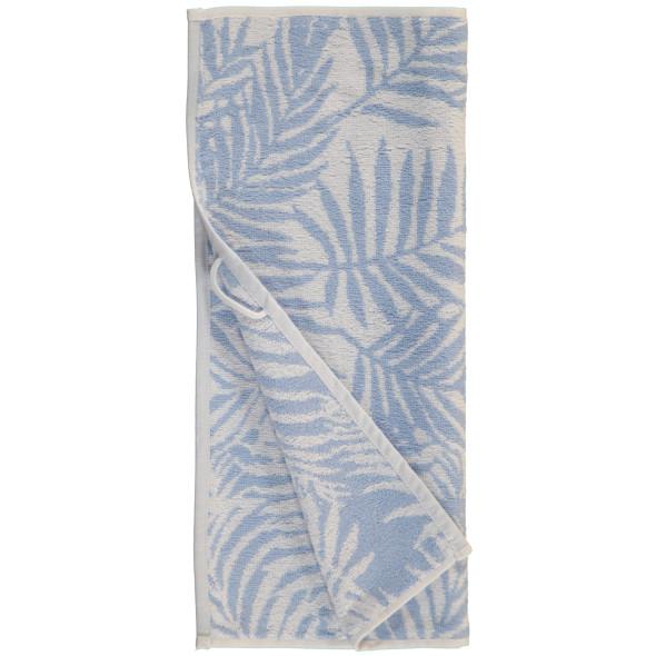 Handtuch im Blätterprint 50x90cm