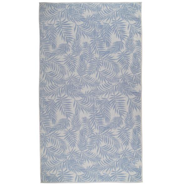 Wellnesstuch im Blätterprint 90x160cm