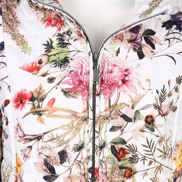 Damen Steppjacke im floralen Design