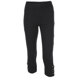 Damen Capri Leggings mit Ösen