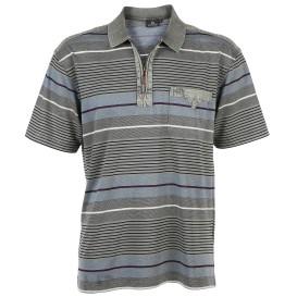 Herren Poloshirt mit kurzem Reißverschluss