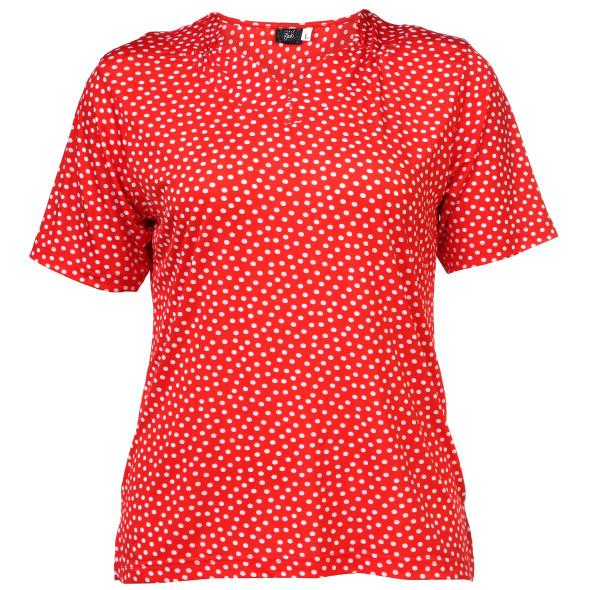 Große Größen Shirt mit Tupfen
