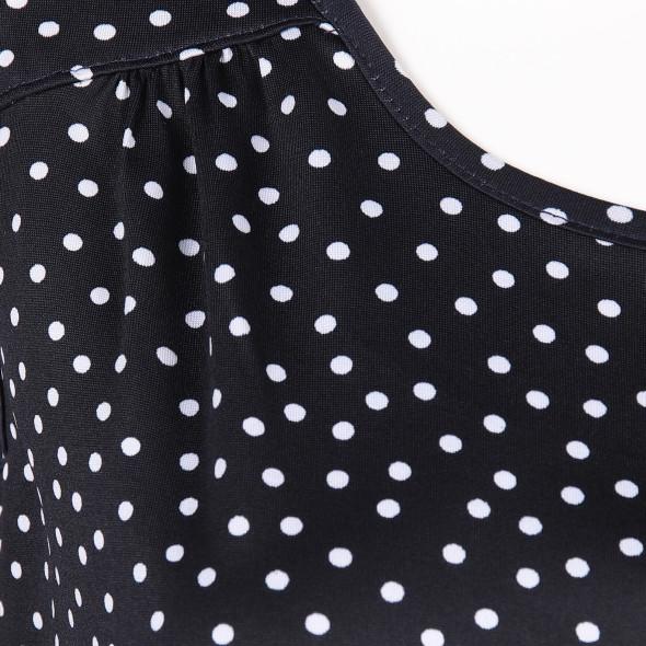 Damen Achseltop mit Polka Dots