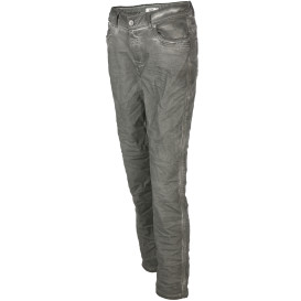 Damen Jeans mit Glitzernaht in Crash Optik