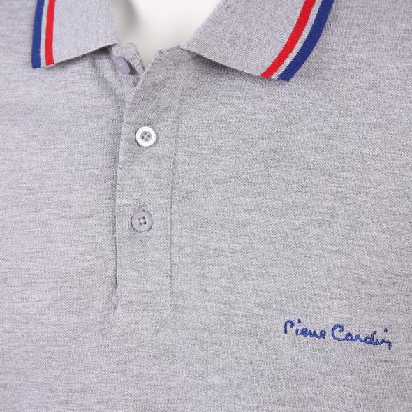 Herren Poloshirt mit gestreiftem Kragen