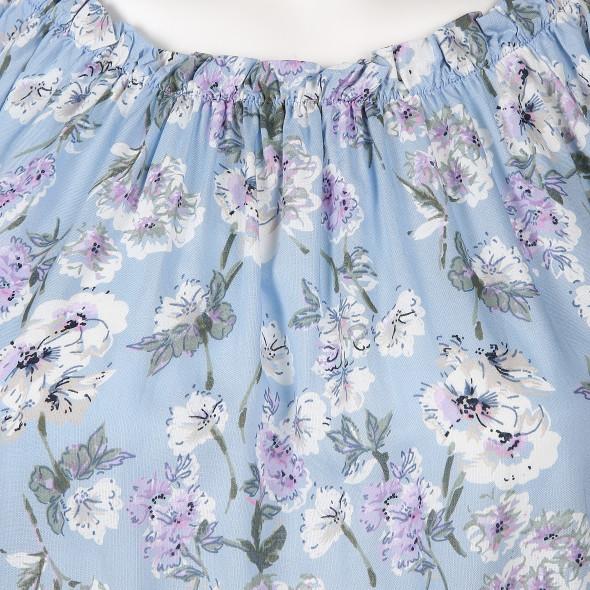 Damen Carmenbluse in floraler Optik