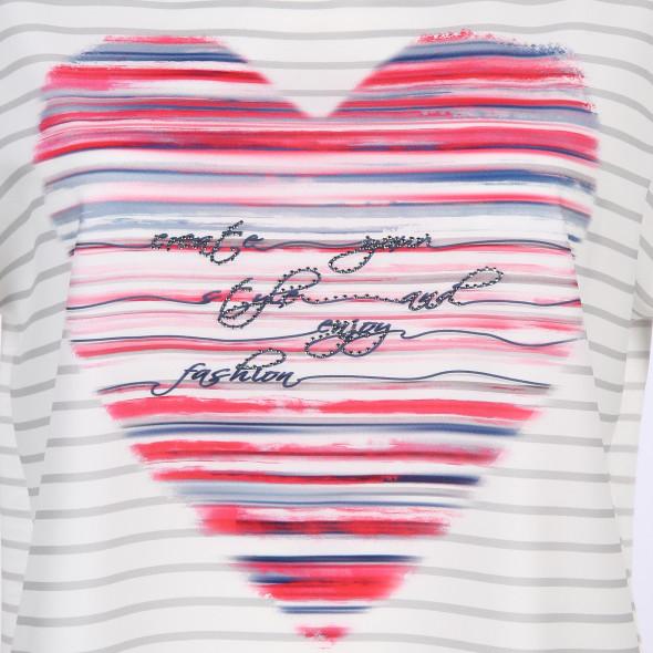 Damen Print Shirt mit Strasssteinchen