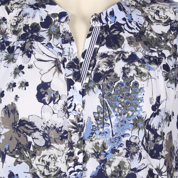 Große Größen Bluse mit floralem Print