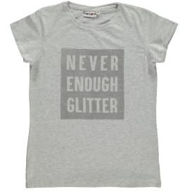 Mädchen T-Shirt mit Glitterschriftzug