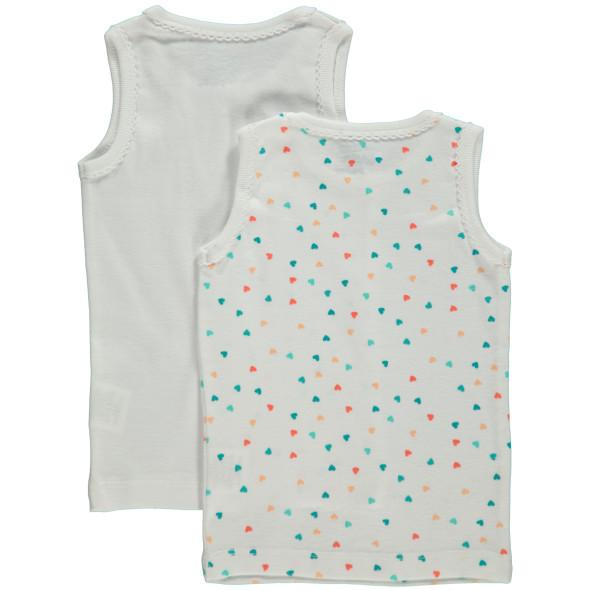 Mädchen Unterhemden im 2er Pack