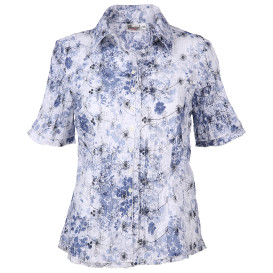 Damen Bluse im Crash-Look mit floralem Print