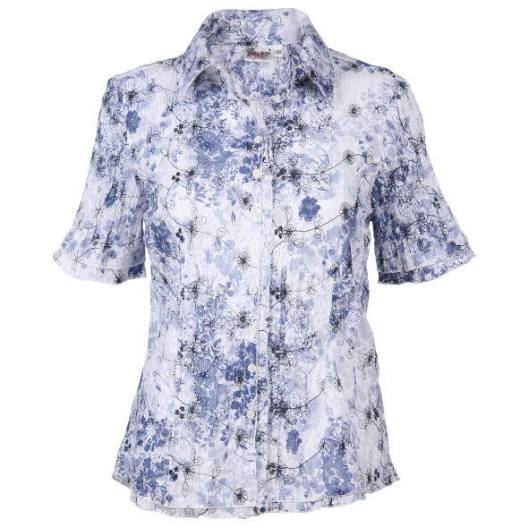 Damen Bluse im Crash-Look mit floralem Print