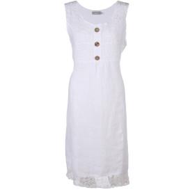 Damen Kleid aus Leinen mit Spitze