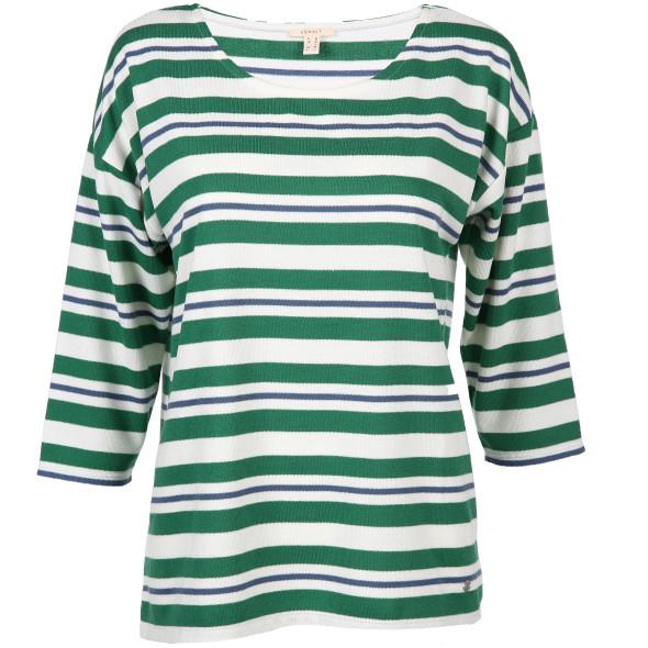 Damen Shirt mit 3/4 Arm und Streifen