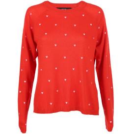 Damen Vero Moda Pullover mit Herzstickerei