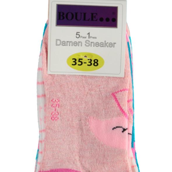 Damen Sommer Sneaker Socken im 5er Pack