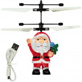 Fliegender Santa mit USB-Anschluss 15cm hoch