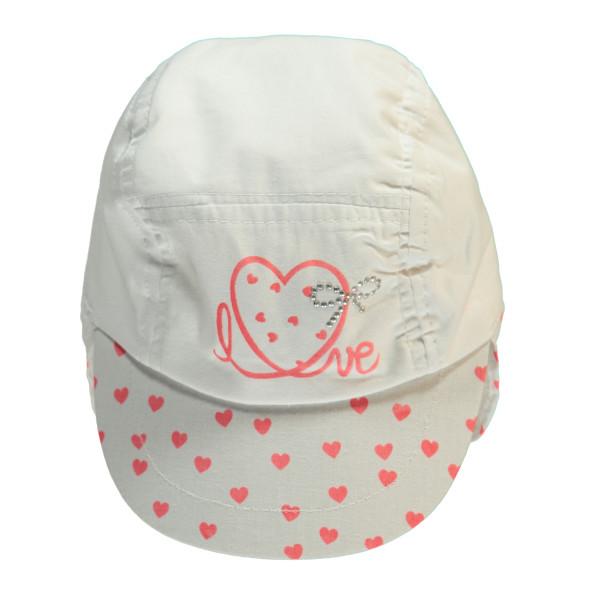 Baby Mütze mit Schild & Nackenschutz