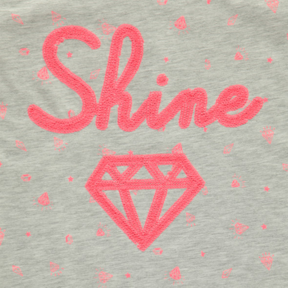 Mädchen T-Shirt mit Paillettenprint