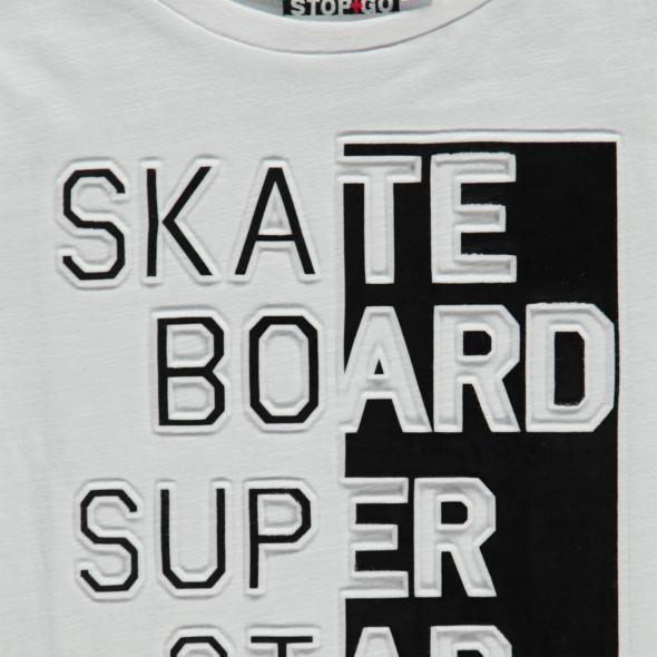 Jungen T-Shirt mit Rubber Wording