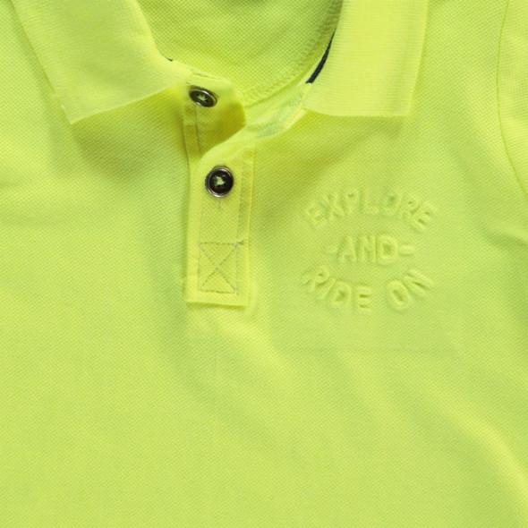 Jungen Poloshirt in Neonfarbe