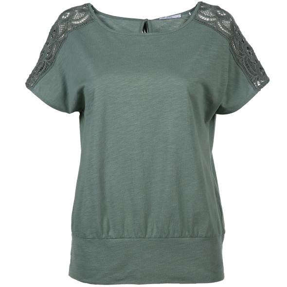 Damen Shirt mit Spitzeneinsatz