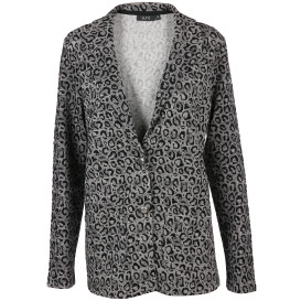 Damen Jersey Blazer mit Glencheck Animal Print