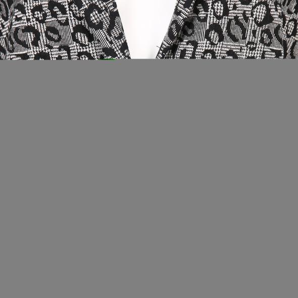 Damen Jersey Blazer mit Glenscheck Animal Print