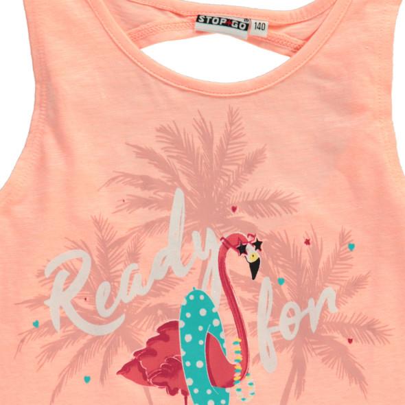 Mädchen Top mit Flamingo