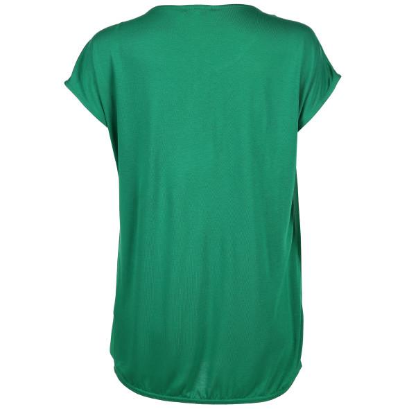Damen Shirt mit Chiffon-Besatz