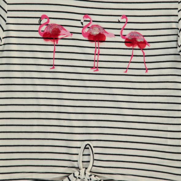 Mädchen Shirt mit Flamingos