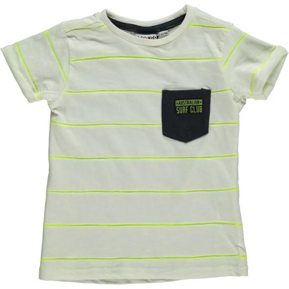 Jungen Shirt mit Neonstreifen und Brusttasche