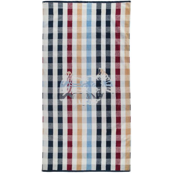 Handtuch mit Karomuster, 90x160cm