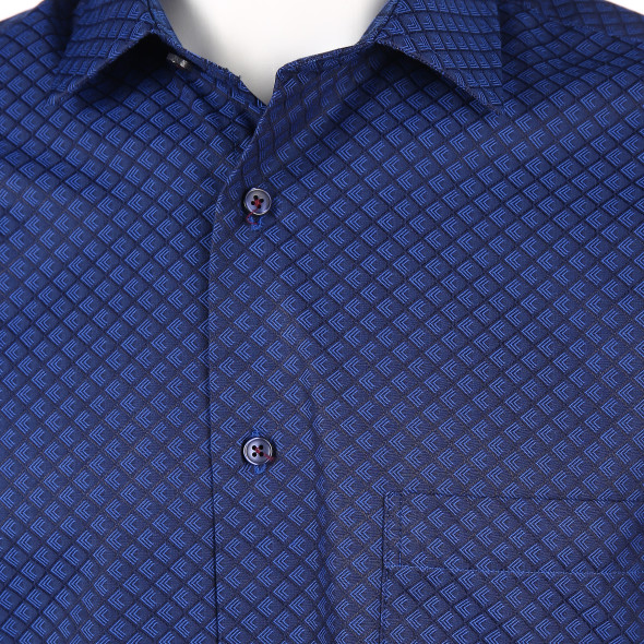 Herren Cityhemd mit Brusttasche und Alloverprint