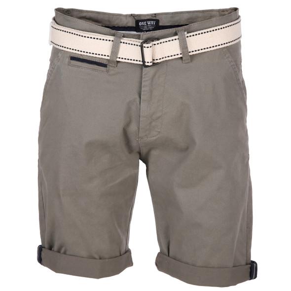 Herren Chino Shorts mit Gürtel