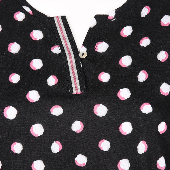 Damen Print Shirt mit Gummizug