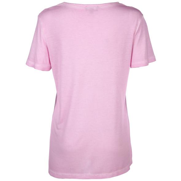 Damen Shirt mit Pailletten und Frontprint