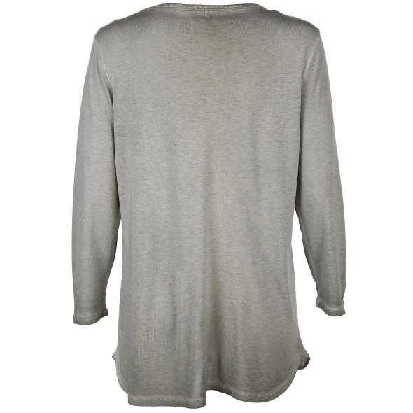 Damen Shirt mit Frontprint und Pailletten