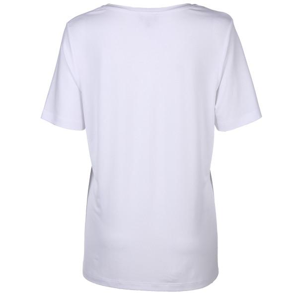 Damen Shirt mit Strass- und Paillettenschriftzug