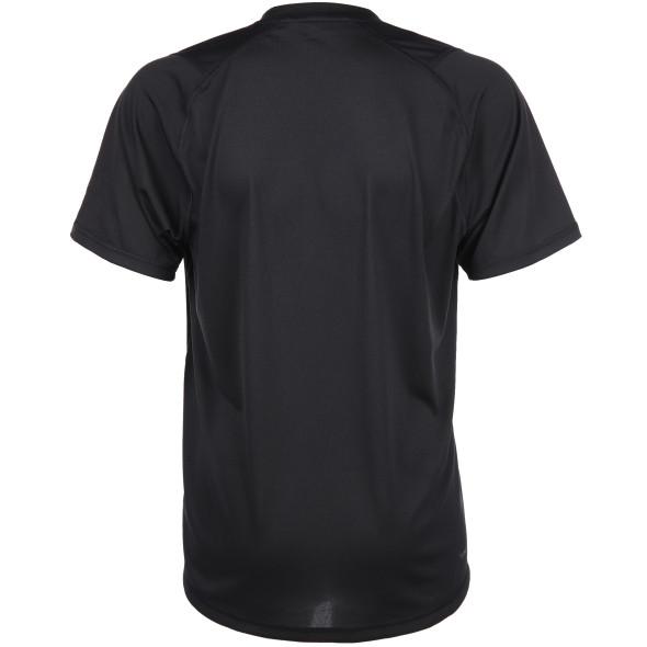 Herren Sportshirt mit schrägem Logoprint