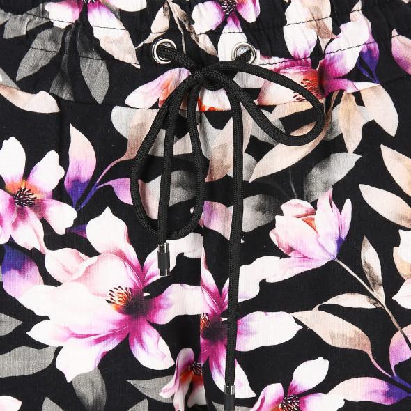 Damen Joggpant mit floralem Muster