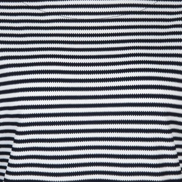 Große Größen Shirt mit Streifen und 3/4 langem Arm