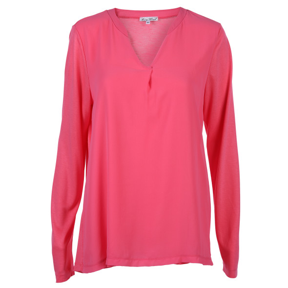 Damen Shirt im Materialmix