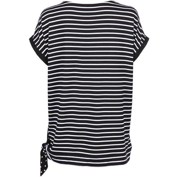 Damen Shirt mit Streifen und Punkten
