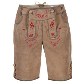 Damen Lederhose mit traditioneller Stickerei