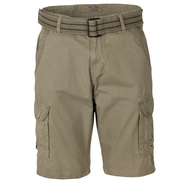 Herren Cargo Shorts mit Stoffgürtel